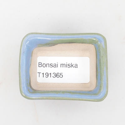 Mini-Bonsaischale 6 x 4,5 x 2,5 cm, Farbe blau - 3