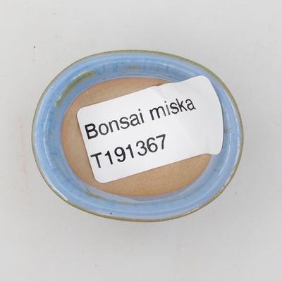 Mini-Bonsaischale 4,5 x 3,5 x 2 cm, Farbe blau - 3