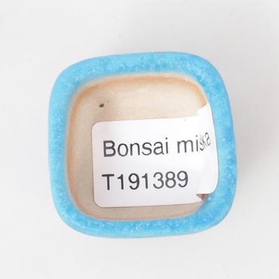 Mini-Bonsaischale 3,5 x 3,5 x 2,5 cm, Farbe blau - 3