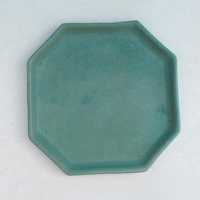 Bonsaischale + Tablett H 13 - Schüssel 11,5 x 11,5 x 4,5 cm, Tablett 11,5 x 11,5 x 1 cm - 3