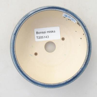 Keramische Bonsai-Schale 10 x 10 x 5 cm, Farbe blau - 3