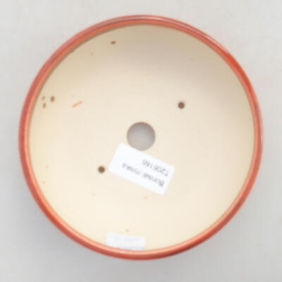 Keramik Bonsai Schüssel 13 x 13 x 4,5 cm, Ziegelfarbe - 3