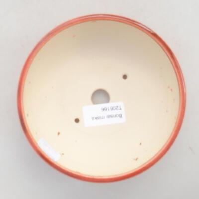 Keramik Bonsai Schüssel 13 x 13 x 5 cm, Ziegelfarbe - 3
