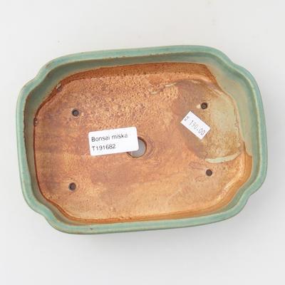 Keramik Bonsaischale 18 x 12,5 x 5 cm, Farbe grün - 3