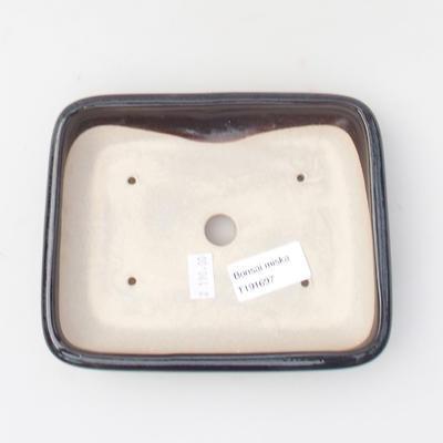 Keramik Bonsaischale 16 x 13 x 3,5 cm, Farbe blau - 3