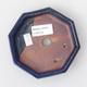 Keramik Bonsaischale 11,5 x 11,5 x 2 cm, Farbe blau - 3/4