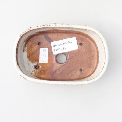 Keramik Bonsai Schüssel 12,5 x 8 x 3,5 cm, weiße Farbe - 3