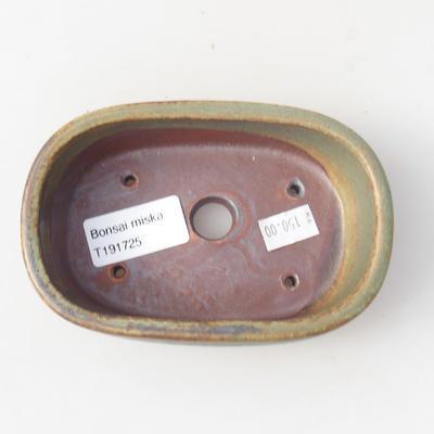 Keramik Bonsaischale 13 x 8,5 x 3,5 cm, Farbe grün - 3