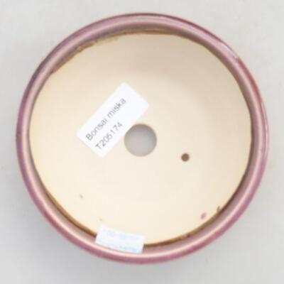 Keramische Bonsai-Schale 11,5 x 11,5 x 4 cm, Farbe lila - 3