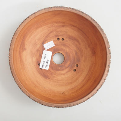 Keramik Bonsaischale 18 x 18 x 5,5 cm, Farbe braun - 3