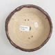 Keramik Bonsai Schüssel 16 x 16 x 5 cm, braune Farbe - 3/4