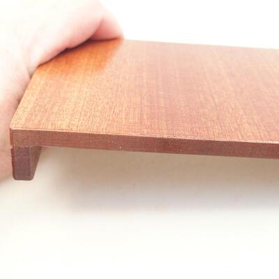 Holztisch unter dem Bonsai braun 12 x 9 x 1,5 cm - 3