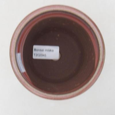 Keramische Bonsai-Schale 10 x 10 x 10 cm, Farbe braun-grün - 3