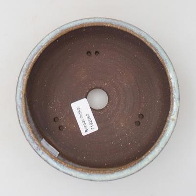 Keramik Bonsai Schüssel - 16 x 16 x 5 cm, Farbe blau - 3