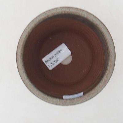 Keramik Bonsai Schüssel 10 x 10 x 10 cm, Farbe blau - 3