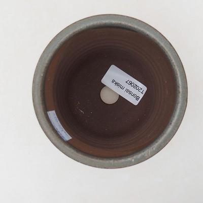 Keramische Bonsai-Schale 9 x 9 x 10,5 cm, graue Farbe - 3