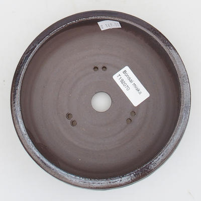 Keramik Bonsai Schüssel - 15,5 x 15,5 x 5 cm, blau-schwarze Farbe - 3