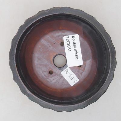 Keramische Bonsai-Schale 10,5 x 10,5 x 4,5 cm, graue Farbe - 3