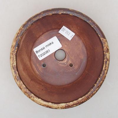 Keramische Bonsai-Schale 12,5 x 12,5 x 4 cm, gelbe Farbe - 3