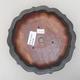 Keramische Bonsai-Schale 17 x 17 x 4,5 cm, graue Farbe - 3/4