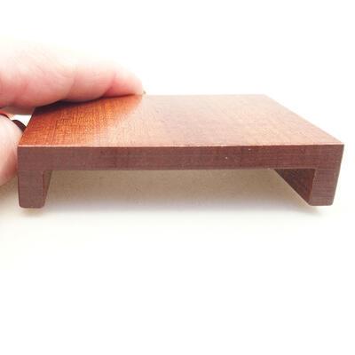 Holztisch unter dem Bonsai braun 8 x 6 x 1,5 cm - 3