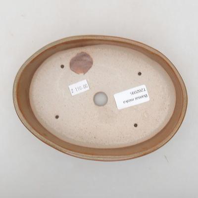 Keramische Bonsai-Schale 18 x 13 x 4 cm, Farbe braun - 3