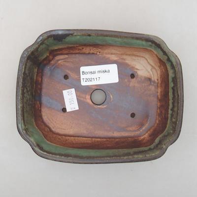 Keramik Bonsai Schüssel 15 x 12 x 4 cm, Farbe grün - 3