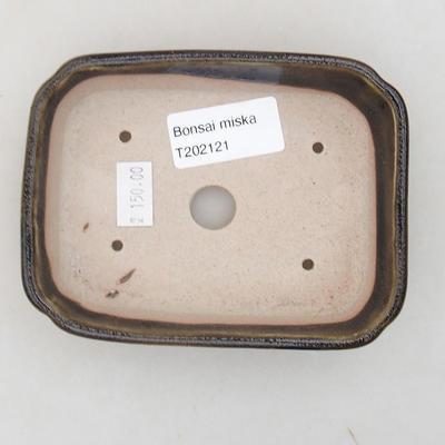 Keramische Bonsai-Schale 12 x 9 x 2,5 cm, Farbe grün - 3