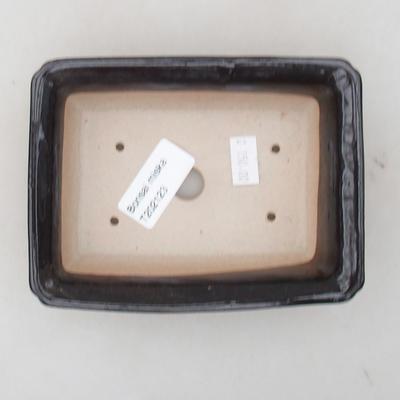 Keramische Bonsai-Schale 13,5 x 10 x 3,5 cm, braune Farbe - 3