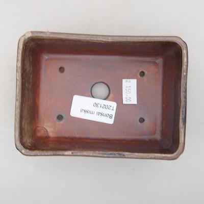 Keramische Bonsai-Schale 13 x 9 x 4,5 cm, braune Farbe - 3