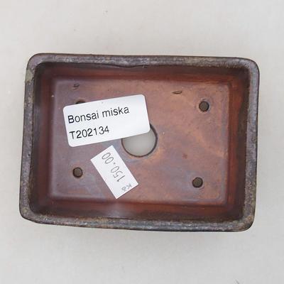 Keramische Bonsai-Schale 9 x 7 x 4 cm, graue Farbe - 3