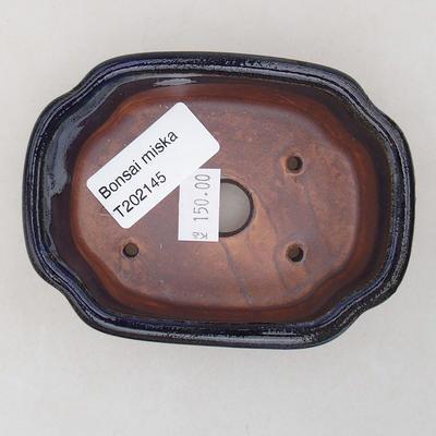 Keramische Bonsai-Schale 10 x 7,5 x 3,5 cm, Farbe blau - 3