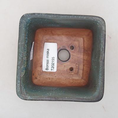 Keramische Bonsai-Schale 9 x 9 x 5,5 cm, graue Farbe - 3