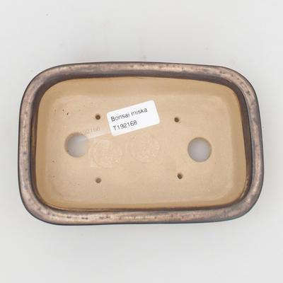 Bonsaischale aus Keramik 16 x 10 x 4,5 cm, Farbe braun-beige - 3