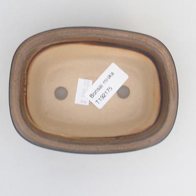 Keramik Bonsaischale 12 x 9 x 5 cm, Farbe braun - 3