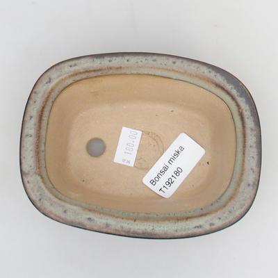 Keramik-Bonsaischale 12 x 9 x 5 cm, grüngraue Farbe - 3