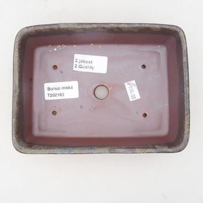 Keramische Bonsai-Schale 17,5 x 13 x 5 cm, Farbe braun-grün - 2. Qualität - 3
