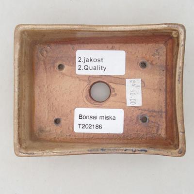 Bonsai-Keramikschale 12,5 x 9,5 x 3,5 cm, Farbe beige - 2. Qualität - 3