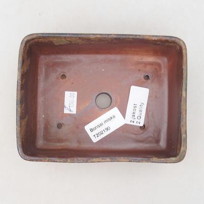 Keramik Bonsai Schüssel 15 x 11 x 5,5 cm, Farbe braun-grün - 2. Qualität - 3