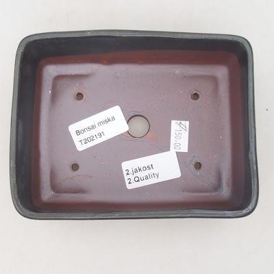 Keramik Bonsai Schüssel 15 x 11 x 5,5 cm, braun-blaue Farbe - 2. Qualität - 3