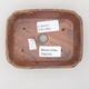 Keramische Bonsai-Schale 12,5 x 9,5 x 3 cm, Farbe braun-grün - 2. Qualität - 3/4
