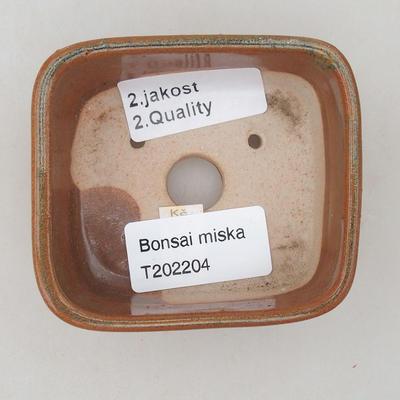 Keramik Bonsai Schüssel 8 x 7 x 3 cm, Farbe braun - 2. Qualität - 3