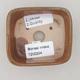 Keramik Bonsai Schüssel 8 x 7 x 3 cm, Farbe braun - 2. Qualität - 3/4