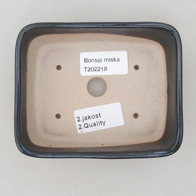Keramik Bonsai Schüssel 12 x 10 x 4 cm, Farbe grau - 2. Qualität - 3