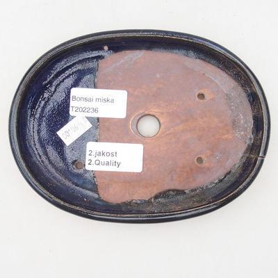Keramik Bonsai Schüssel 17 x 12,5 x 2 cm, Farbe blau - 2. Qualität - 3