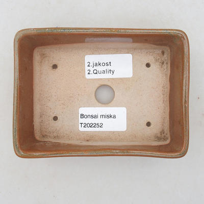 Keramik Bonsai Schüssel 12,5 x 9 x 4 cm, braune Farbe - 2. Qualität - 3