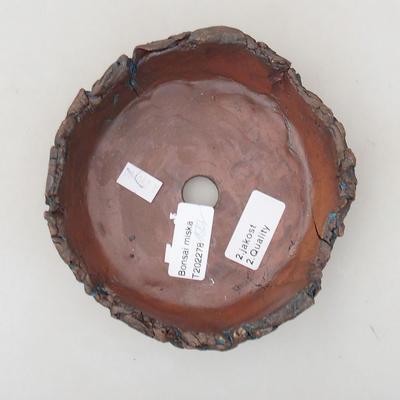 Keramik Bonsai Schüssel 14 x 14 x 5 cm, graue Farbe - 2. Qualität - 3