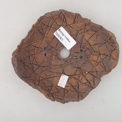 Keramik Bonsai Schüssel 14 x 12,5 x 4 cm, graue Farbe - 2. Qualität - 3
