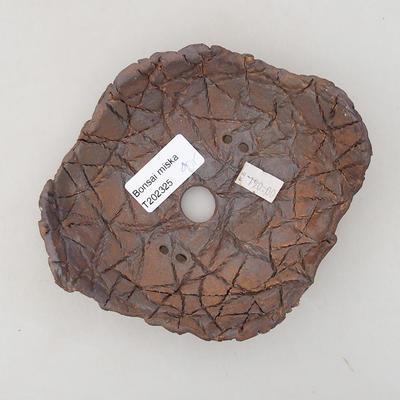 Keramik Bonsai Schüssel 14 x 12 x 4 cm, graue Farbe - 2. Qualität - 3