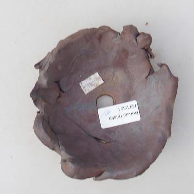 Keramik Bonsai Schüssel 11 x 11 x 5 cm, graue Farbe - 2. Qualität - 3